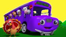 Колеса на автобусе | 3D мультфильм для детей | Учебное видео | Популярная детского стишка