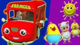 Колеса на автобусе | прибаутки в России | Wheels on the Bus