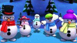 ตุ๊กตาหิมะ นิ้วมือ ครอบครัว | คริสต์มาสคริสต์มาส | นิ้วครอบครัวเพลง | Xmas | Snowmen Finger Family