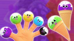 Família do dedo do gelado | Rimas infantis para crianças | Nursery Rhymes | Ice Cream Finger Family