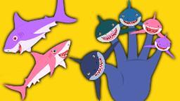 Tubarão Dedo Família | Cartoon for crianças | vídeo educativo | populares rima de berçário