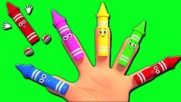 Crayons Dedo Família | 3D rimas de berçário para crianças | crianças canção