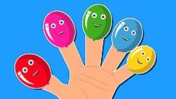 Balões Dedo Família | Cartoon For crianças | vídeo educativo |  populares rima de berçário