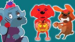 Cinco pequeños cachorros | Cartoon para los niños | video educativo | Scary la poesía infantil