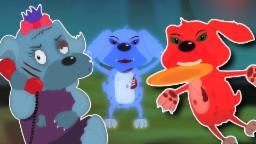 Cinco filhotes de cachorro pouco |compilação de rimas em português para crianças