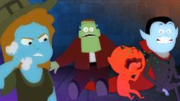 cinco pequenos monstros | canções infantis para aprender | rimas para crianças