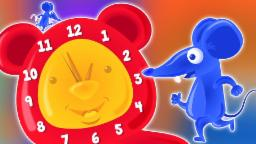 Hickory Dickory muelle| Cartoon para niños | popular nursery canto | Hickory Dickory Dock