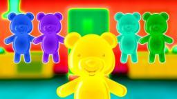 Dez na cama | Verso infantil | Nursery Rhyme For Kids | Jelly Bears Kids Songs | Ten in the Bed