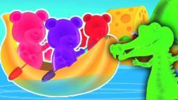da fileira da fileira seu barco | rimas de berçário para crianças | compilação em português