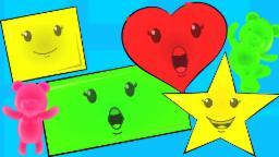 Shapes Canção | Saiba formas com Jelly Beans | Rimas para crianças