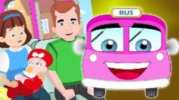 Rodas no ônibus | Cartoon para crianças | vídeo educativo | berçário do rima | Wheels On The Bus