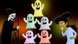 Пять маленьких Монстры | Детского стишка | Дети Песня | Scary Songs | Five Little Monsters