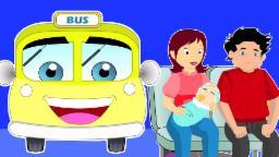 Колеса на автобусе | Мультфильм для детей | популярный детский стишок