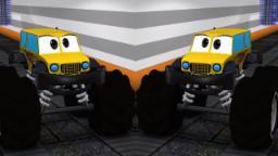 Monster Truck Lavage de voitures | Vidéo 3D | apprendre véhicules | Car Wash Video | 3D Car Video