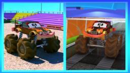Lavagem carros Monster Truck | Learn Car Wash | Educational Video | Monster Truck Car Wash