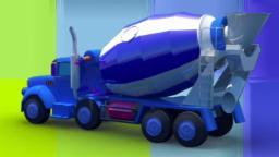 Caminhão concreto | Miúdos desenhos animados | Vídeo educacional | Concrete Truck Formation and Uses