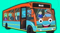 rodas no ônibus | coleta de rimas infantis | Wheels On The Bus Rhyme