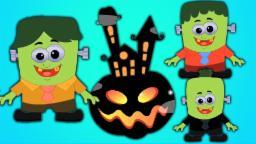 cinco pequenos monstros rima | canções de ninar para crianças | Kids Songs Collection