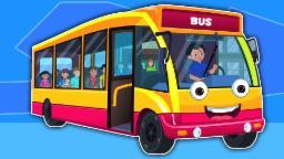 Колеса на автобусе | Мультфильм для детей | Учебное видео | Популярная детского стишка