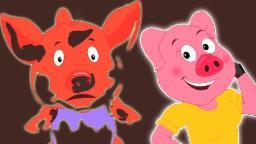 Пять маленьких Piggies прыжки на кровати | Cartoon для детей | Учебное видео | потешки