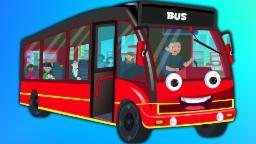 Колеса на автобусе Красный | мультфильм для детей | Популярный детский стишок