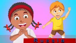 если вы счастливы и вы знаете это | песня для детей в русский | компиляцию