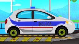 Polizeiwagen - Autowäsche | Ausbildungsvideo | Educational Video For Kids | Police Car - Car Wash