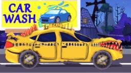 Scary Taxi Lavado coches | calle Vehículos | Scary Vehicles For Kids | Scary Taxi Car Wash