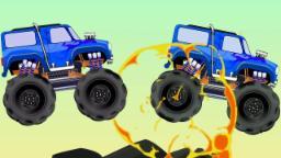 monstruo camión para niños | Aprender vehículos | niños juguete camiones | Monster Truck For Kids
