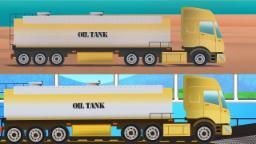 Tanque de aceite | tren de lavado | Kids Cartoon | Vehicles For Kids | Oil Tank Wash