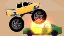 monstruo policía coche camión - lavado de autos|vídeo popular para los cabritos|Monster Truck Police