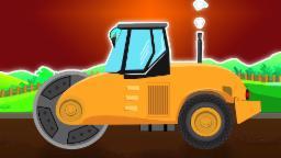 Rodillo de camino Formación | Cartoon for niños | Niños de juguete Video | Road Roller Formation
