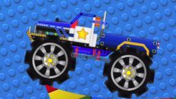acrobacias monster truck | lego para niños | vehículo de los niños | Monster Truck Stunts | Vehicle