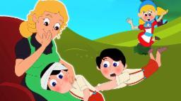 Jack y Jill subieron a la colina | Cartoon para los niños | compilación | Popular Canción de cuna