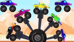 Monstre camion doigt famille | comptines pour les enfants | Monster Truck | Finger Family