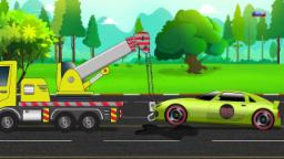 police Monstre camion | Lave-auto | Kids Cartoon | Educational Video | Police Car Wash