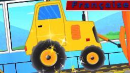 bulldozer lavage de voiture | lavage de voiture vidéo | enfants vidéo