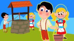 Jack e Jill foram acima do monte | Cartoon for crianças | compilação | Popular berçário do rima