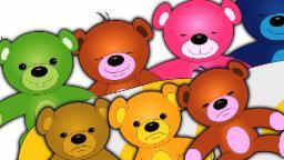 dez na a cama | Desenhos animados para crianças | rima Popular