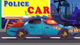 Страшные полиции легковой | Автомойка | Kids Vehicles | Halloween Song | Scary Police Car | Car Wash