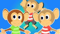пять маленьких обезьян | детский стишок для детей во России | компиляцию