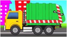 Мусор Грузовая машина | с помощью мусоровоза | сборник видео для детей