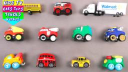 Learn Vehicles For Kids Children Babies Toddlers With School Bus London Taxi Fire Engine Garbage Van
