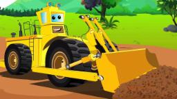 Grand bulldozer | Lave-Auto | Voiture pour enfants | Vehicle For Children | Car Wash | Big Bulldozer