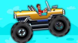 monstruo camión | Vehículo niños Raza | El estrellarse de coches | Videos For Kids | Monster Truck