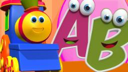 Bob o trem | Canção abc | Abc para crianças | Bob The Train | ABC Song For Kids | Alphabet Rhyme