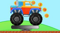 Monster Truck In Mario Land | Adventure And Stunts | Video For Kids