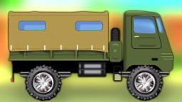 exército Caminhão | Lavagem de carro | Aprender veículos | Car Garage | Army Truck Car wash