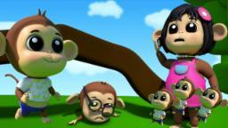 cinque scimmiette   bambini rima   canzone bambino   Five Little Monkeys   Baby music   Kids Songs