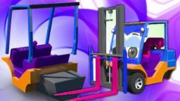 Carretilla elevadora | Formación y usos | niños aprenden | 3D Videos | Formation and Uses | Forklift